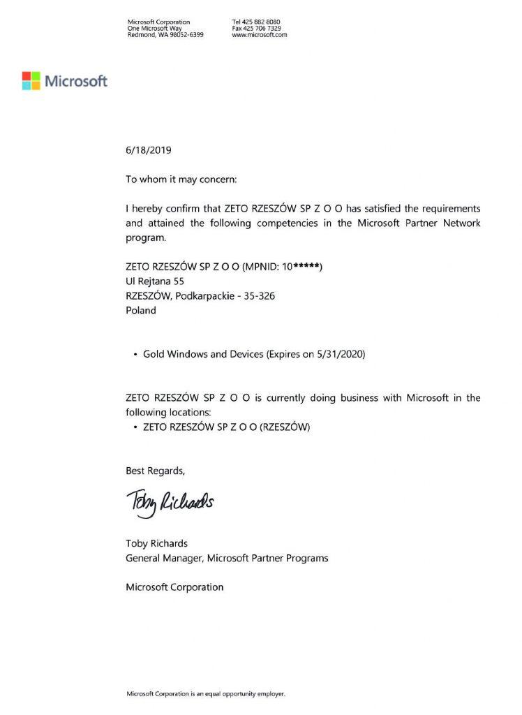 Certyfikat-MPN-Gold-Windows-and-Devices-ZETO-RZESZÓW
